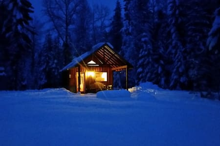 Camping cabin in country setting
