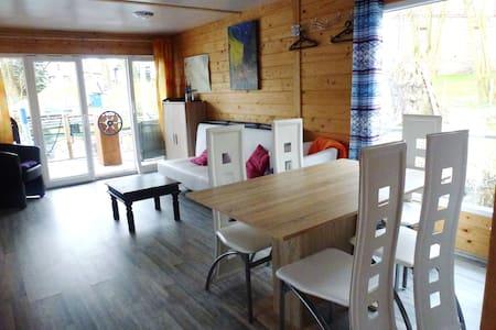 Hausboot Seepferdchen, 3 Zimmer, Dachterrasse - Bot