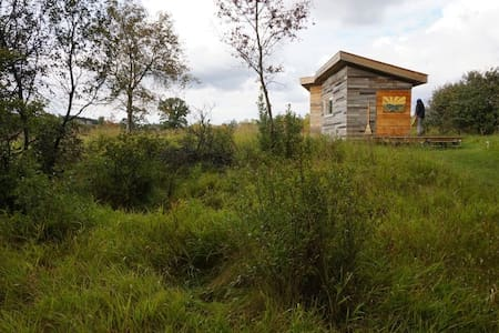 Architect designed eco cabins rest on a tiny farm. - Cottage