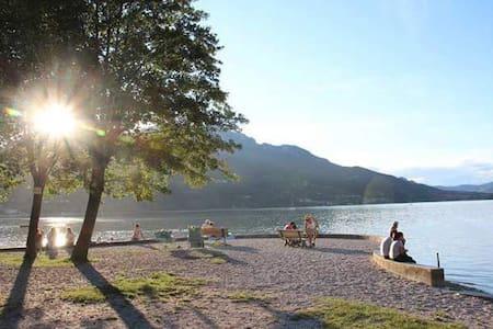 Appartamento con giardino, vicino al lago. Estate - Caldonazzo - Wohnung