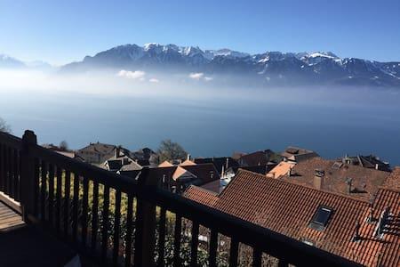 2 chambres jardin vue lac et Alpes - Chexbres   - Guesthouse