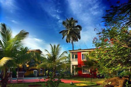 Its a 2 bhk villa located in siolim North Goa