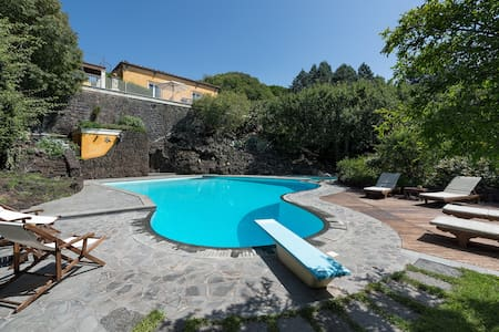 VILLA ROCCA DEL BAGOLARO, ETNA VIEW AND POOL - Ragalna