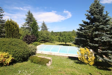 Annexe avec grand jardin, piscine et veranda - Caillac