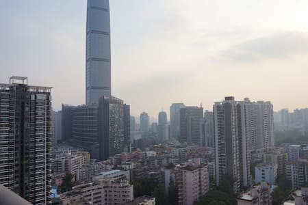 深圳地王大厦酒店公寓、短租酒店 双床房 - Appartement