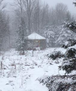 Yourte écolo4-saisons,puits lumière - Bolton-Ouest - Rundzelt