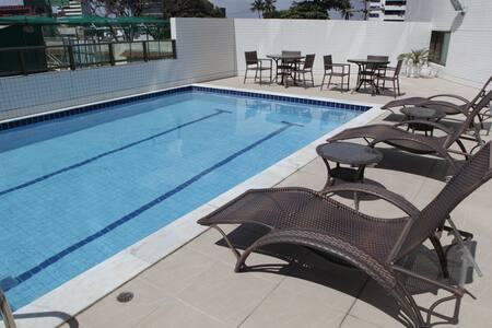 Flat 2 quartos mobiliado à beira-mar de Boa Viagem - Recife - Apartment