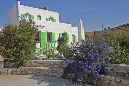 Villa Armonia: Splendid view to the Aegean sea - Piso Livadi