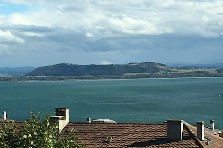 Calm, spacious and lake view. WIFI and TV. - Neuchâtel - Appartamento