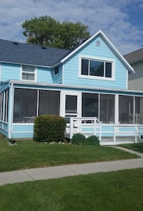 Large cottage with private beach on Lake Huron - Port Huron - Huis