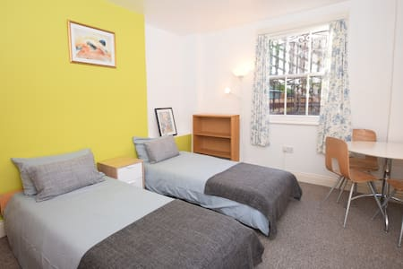 Bright twin bedroom in Kensington - London - Bed & Breakfast