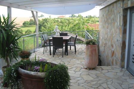 Ruhig gelegene Ferienwohnung mit großer Terrasse - Hardthausen am Kocher - Condominium