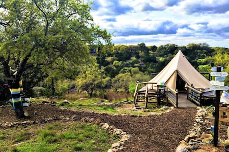 The Texas Bell Tent Glamping - Spring Branch - Barraca