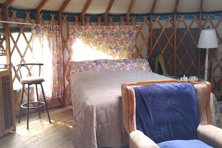 Stay in our Yurt....glamping at its finest. - Apartament