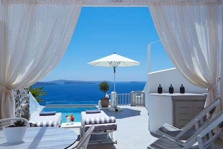 Cave Suite with heated private pool-Oia - Oia - Bed & Breakfast