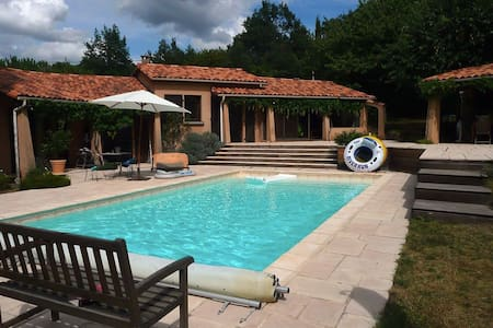 Chambre Calme sur piscine - Le Vernet - Villa