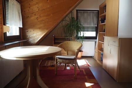 Zimmer und Bad mit Alpenfeeling im Dachgeschoss - House