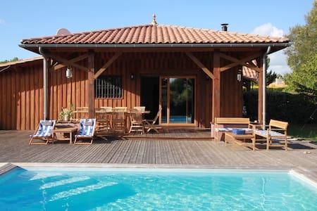 Charmante maison avec piscine entre Lacs et Océan - Biscarrosse - Hus