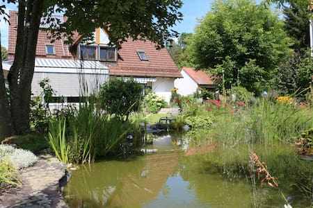 Fränkische Schweiz: Schöne große 3-Zimmer-Wohnung - Unterleinleiter - Apartemen