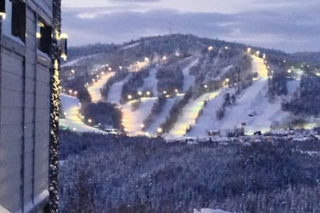 Gorgeous view on the slopes!
