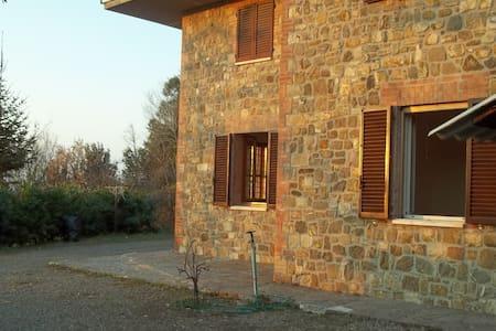 Villa con giardino tra le vigne - Montalcino