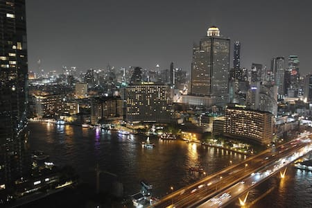 Chao Phraya River View - 75 m² - 30th Floor - BTS - Apartamento