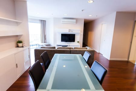 WHOLE FULLY EQUIPPED 3BR (D704) / BIG POOL / WIFI - Bangkok - Apartment