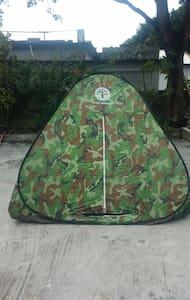 帳篷是迎合個人喜好而準備,有點刺激.有新鮮感,顯現出與大自然為伍。 - Zelt