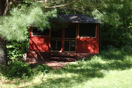 Rustic Cabin under the Pines - Freeville - Cabaña