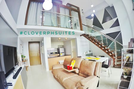 New!Eastwood #cloverphsuites Loft with Balcony. - Quezon - Loft