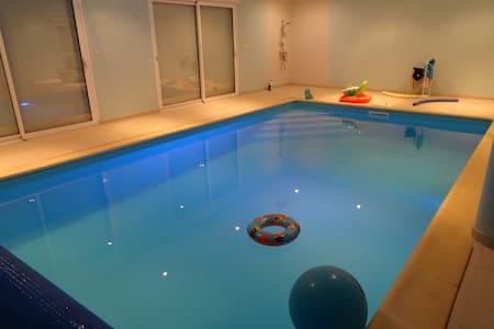 Longère Fosse Mouillée with pool - Hus