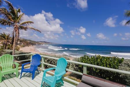Ry's on the Beach, Soupbowl Surf Break, Bathsheba - Casa