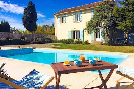 Jolie maison campagne piscine domaine privé 8 pers - Lézignan-Corbières