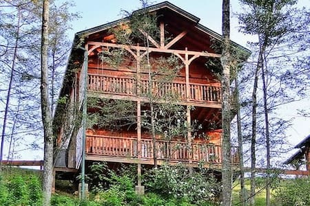 Luxury Cabin in Gatlinburg Falls - Gatlinburg - Blockhütte