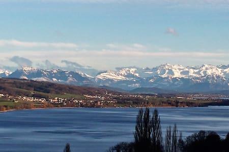 Beautiful Lake + Alpine views - Birrwil - Apartment