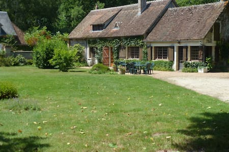 La petite thuile longère et jardin - Souvigny-en-Sologne - Hus