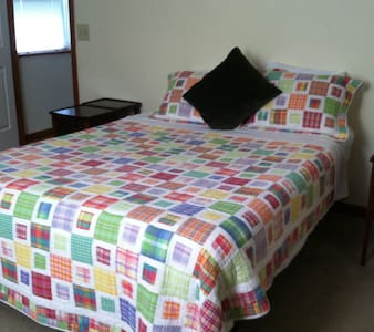 Green Pine Bedroom - Queen Size Bed - 2 Guests - Albany - House