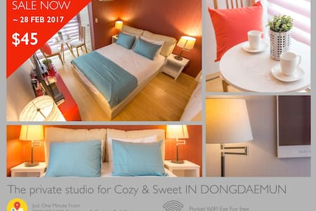 Private Studio for Cozy and Sweet #1 @ DONGDAEMUN - Jung-gu - Apartamento