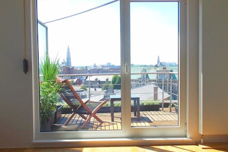 Cosy Penthouse Apartment with a great view! - Antwerp - Apartment