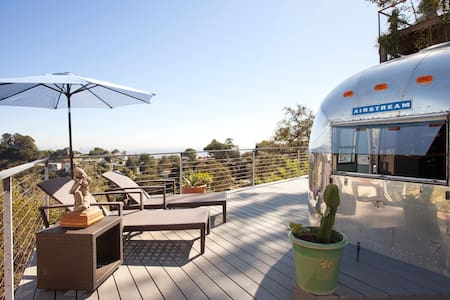 Hollywood Hills Airstream Top Views