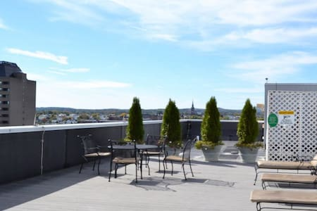 City view on Roof tanning deck Downtown Manchester - Apartamento