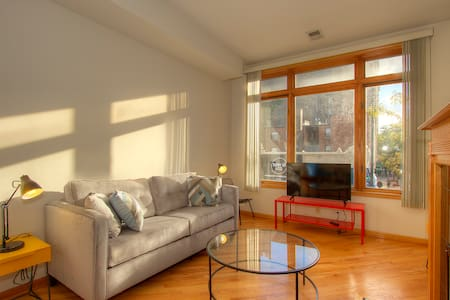 Bright 3BR near lake w/ fireplace - Chicago - Apartment