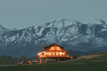 Spring Creek Lodge- abundant mountain views - Livingston - Blockhütte