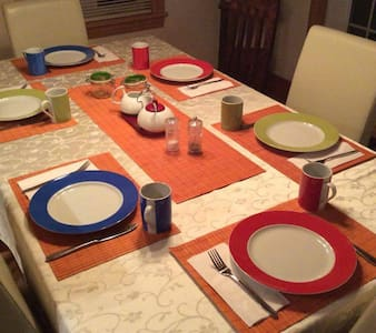 Notre table de déjeuner - Tadoussac - Penzion (B&B)