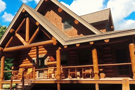 Mountain Haven Log home - gorgeous - Pittsburg - Ház