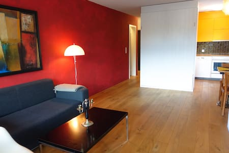 Cozy studio right next to the valley station - Laax - Apartamento