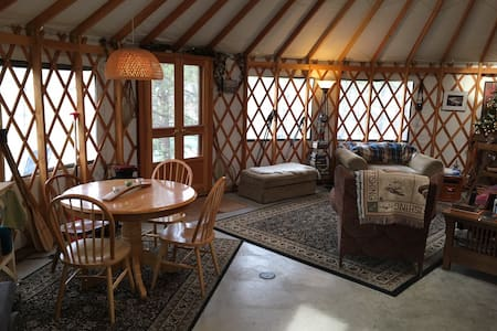 Unique Luxurious Spokane River Yurt - Jurta