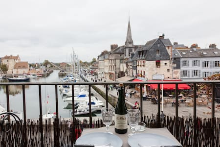 The balcony of the harbor . super center .romantic - Honfleur - Wohnung