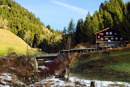 Authentic chalet with amazing view - Jaun - Chalet