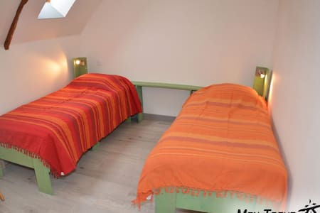 Liscuis - GWER : twin room 2 p, with fireplace - Hus